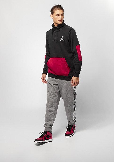 JORDAN Jumpman Hybrid Fleece 1/4 Zip black gym red white