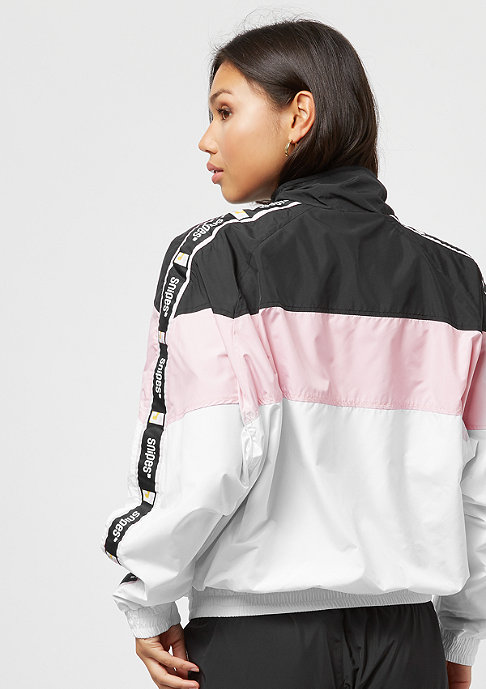 SNIPES Tape Block Trackjacket black/rose/white