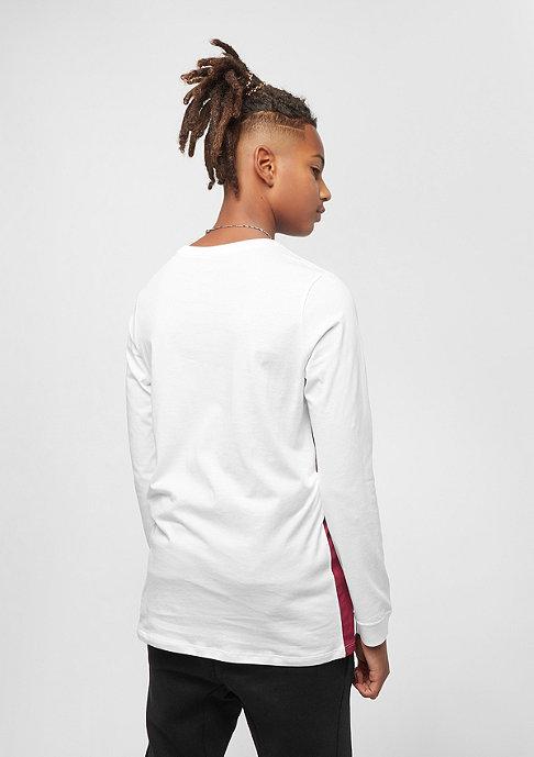 NIKE Junior B NSW TEE LS white/red crush