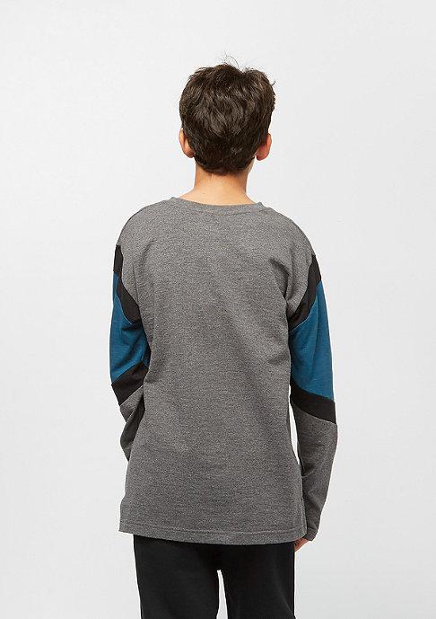 NIKE Junior B NIKE AIR TOP LS charcoal heathr/blue force/black