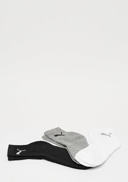 Puma Short Crew 3P grey/white/black