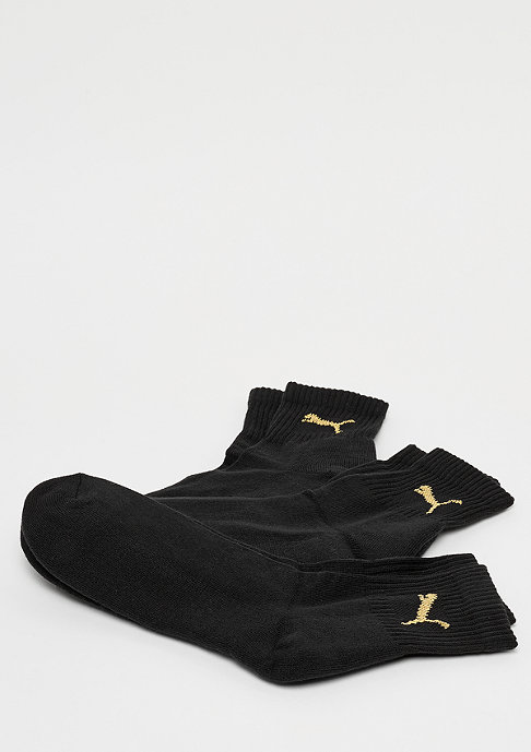 Puma Short Crew 3P black/gold