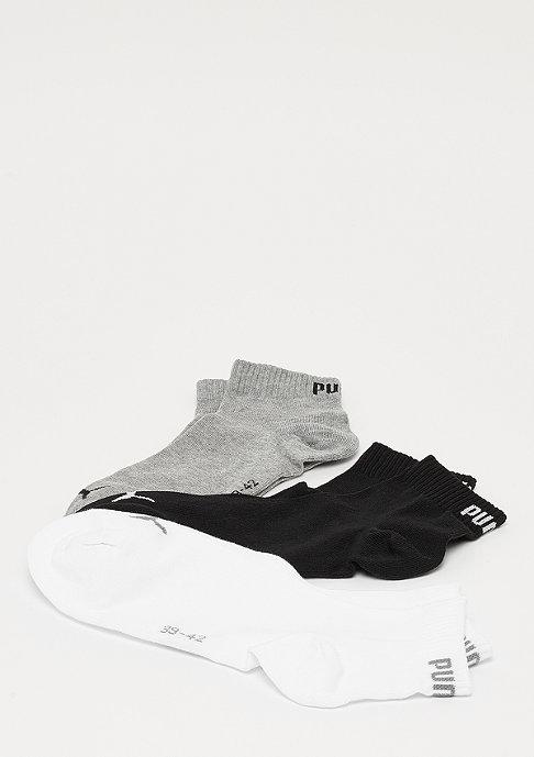 Puma Quarter Plain 3P grey/white/black