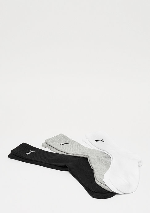 Puma Sport Crew 3P white/grey/black
