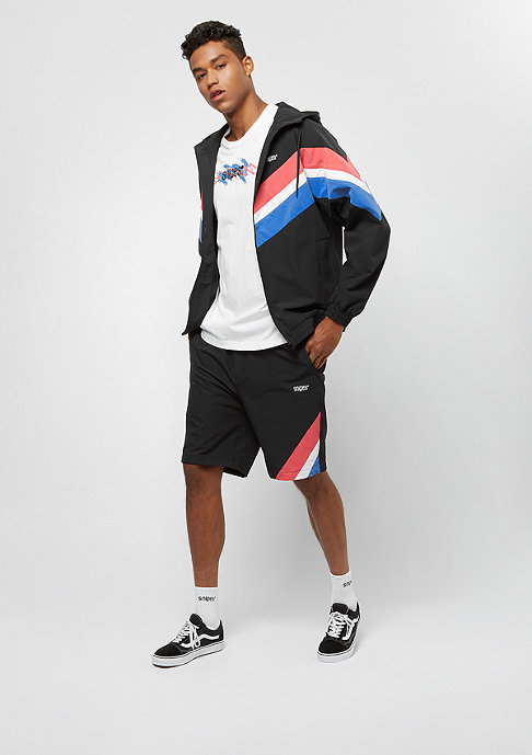 SNIPES Block Shorts black/red/white/blue