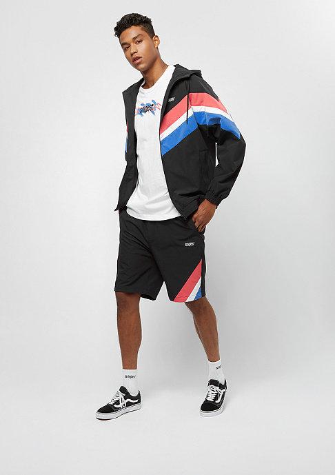SNIPES Block Shorts black/red/white/blue