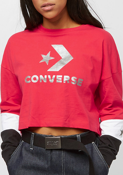 Converse Colorblocked Cropped cherry red multi