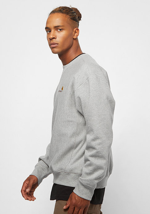 Carhartt WIP American Script grey heather