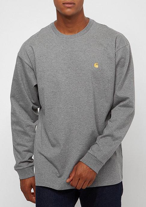 Carhartt WIP L/S Chase dark grey heather /gold