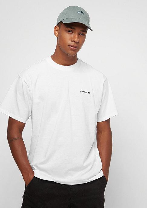 Carhartt WIP S/S Script Embroidery white/black