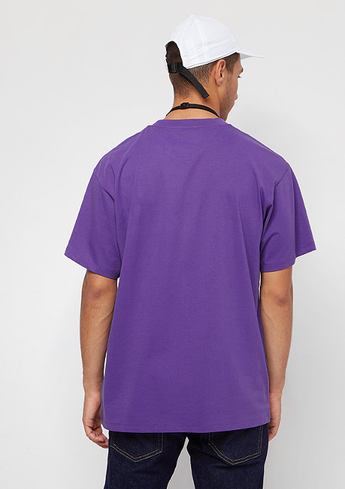 Carhartt WIP S/S Script Embroidery frosted viola/black