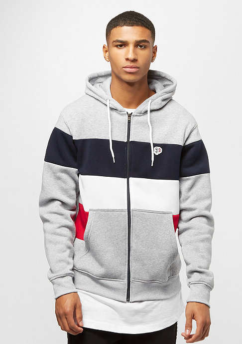 Southpole Color Block Full Zip heather grey