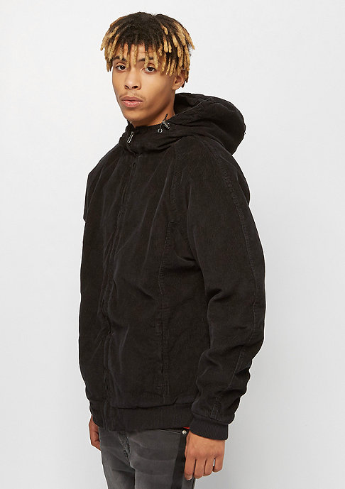 Urban Classics Hooded Corduroy black/black