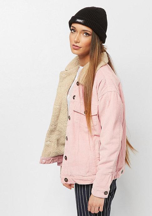 Urban Classics Oversize Sherpa Corduroy rose/beige