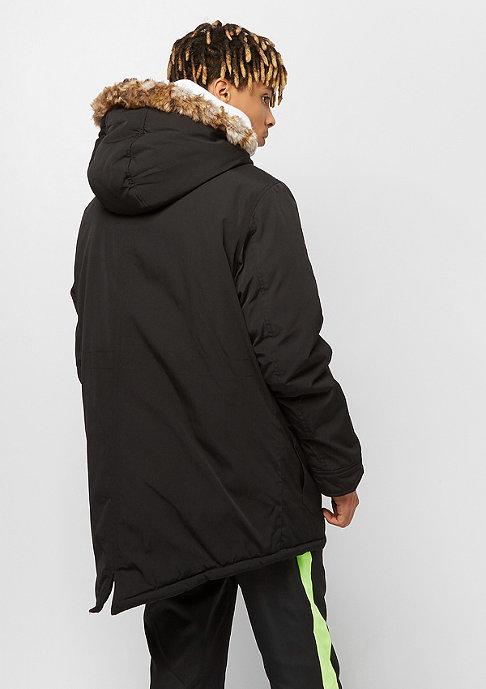Urban Classics Hooded Faux Fur black