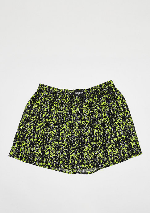 SNIPES 3er Boxer Cuffed splatter, lime print, black snipes rapport