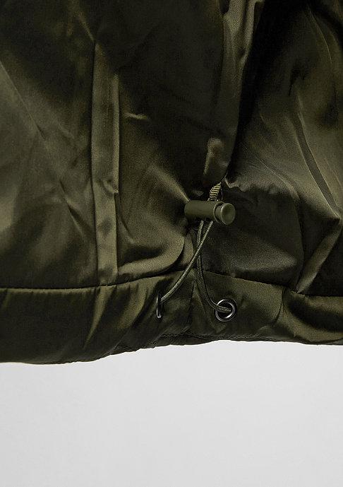 Urban Classics Hooded Puffer Jacket darkolive