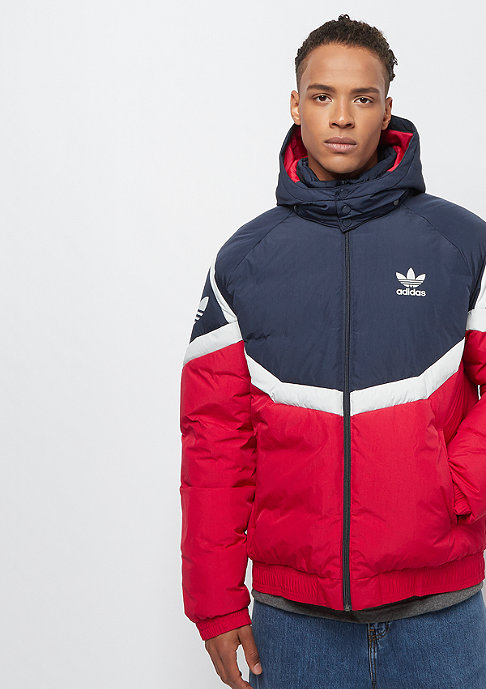 adidas Blocked Down Jacket red
