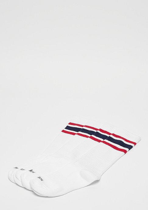 SNIPES Striped Tube Socks 2PK white red navy