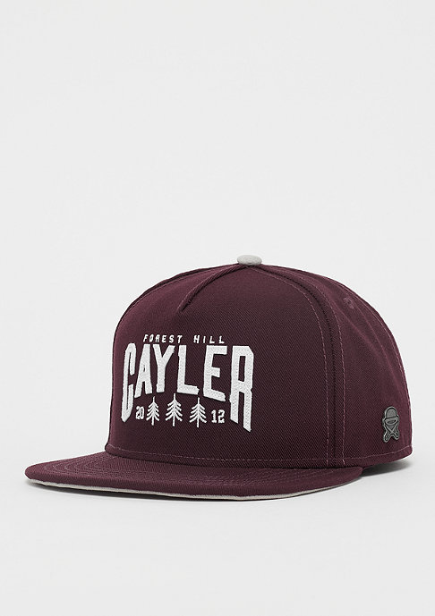 Cayler & Sons C&S CL Cayler Hill Cap maroon/grey