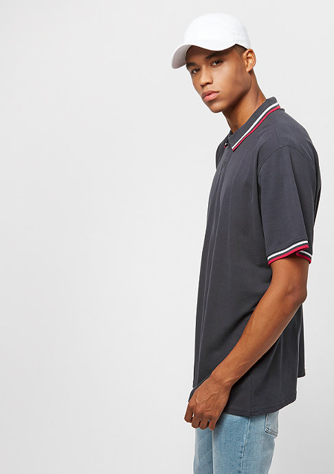 Urban Classics Oversize Double Stripe navy/white/fire red