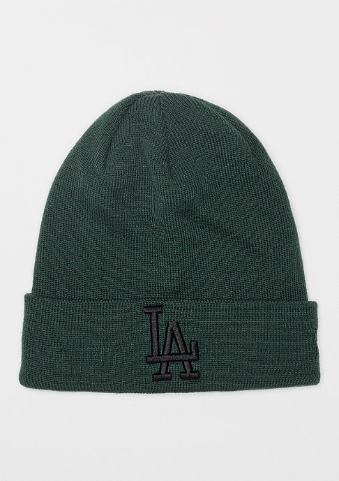 New Era Cuff Knit MLB Los Angeles Dodgers Essential dark green/black
