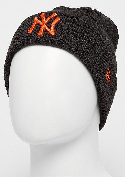 New Era Cuff Knit MLB New York Yankees Essential black/orange