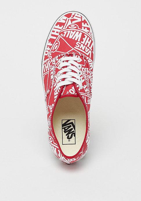 VANS UA Authentic OTW repeat red/true white