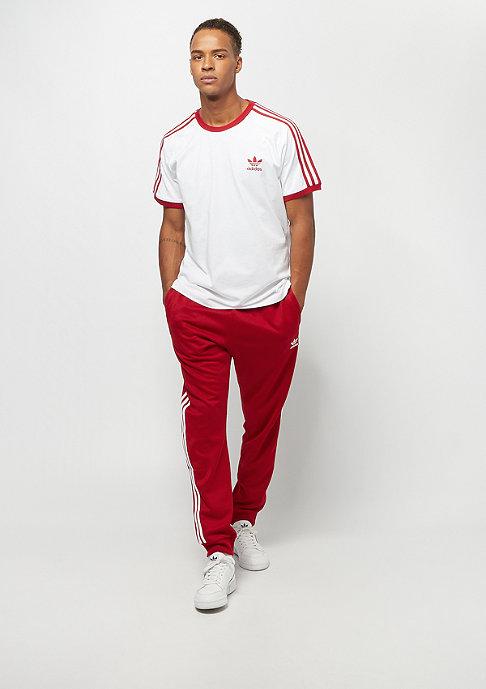 adidas 3-Stripes white/power red