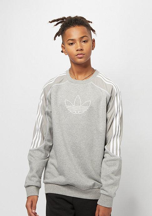 adidas Junior Radkin Crew medium grey heather/white