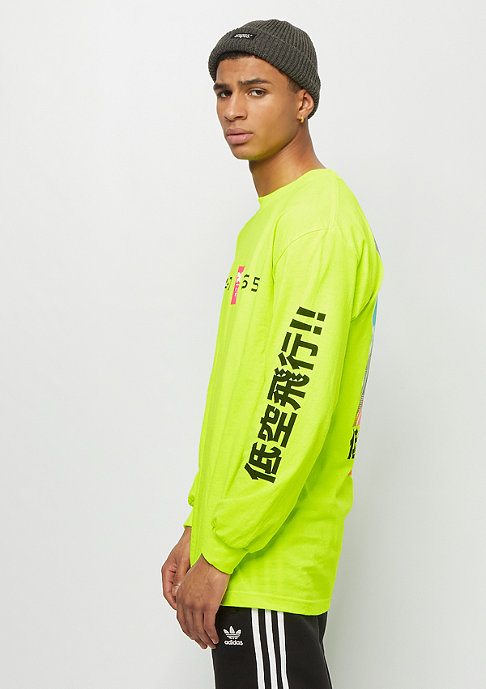 DGK Sky High L/S Tee safety green
