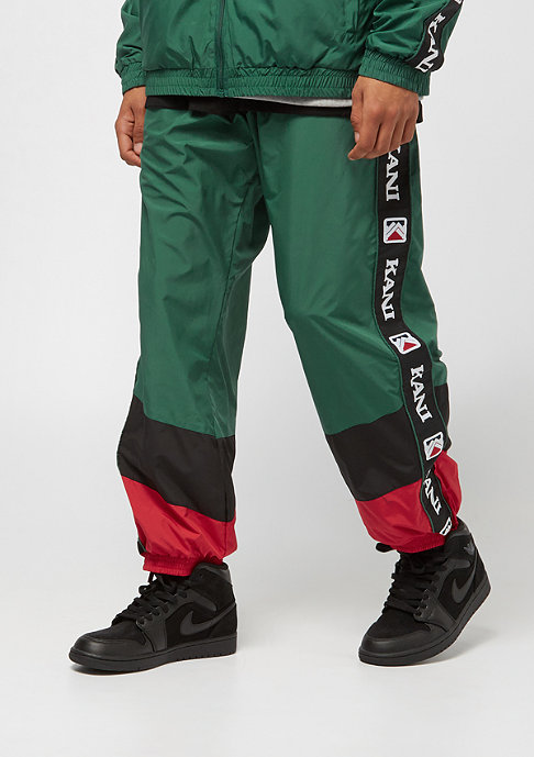 Karl Kani Retro Trackpants green red black