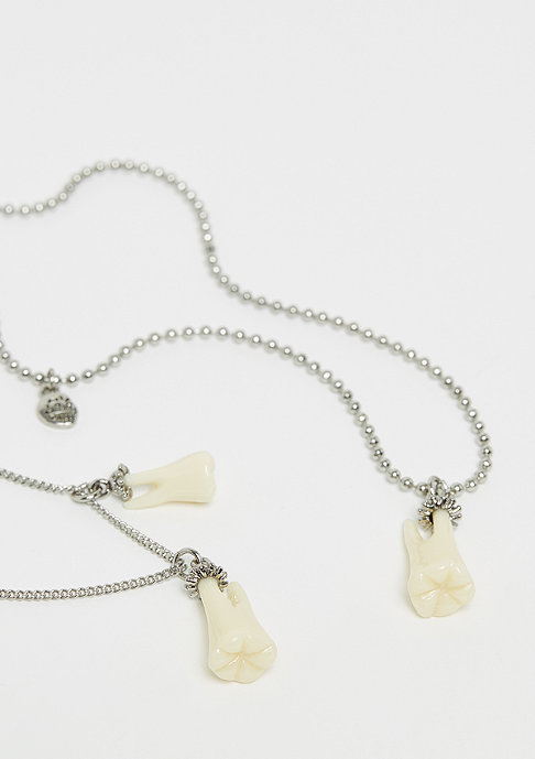 Cheap Monday Teeth Necklaces rhodium