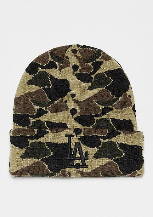 New Era Camo Cuff Knit MLB Los Angeles Dodgers desert camo/black