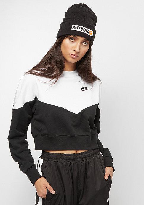 NIKE Heritage Crew Fleece black/white/black