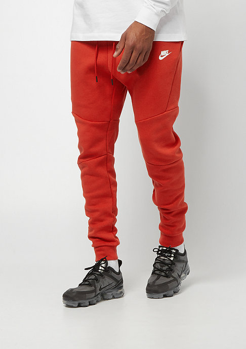NIKE Tech Fleece mystic red/white