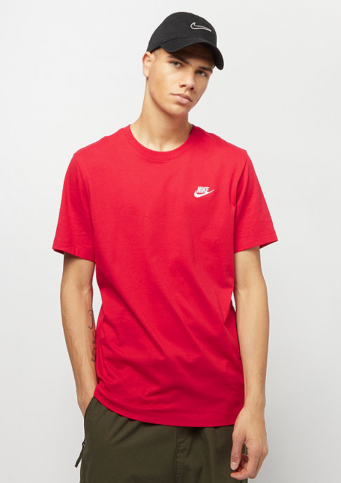 NIKE Club Tee university red/white