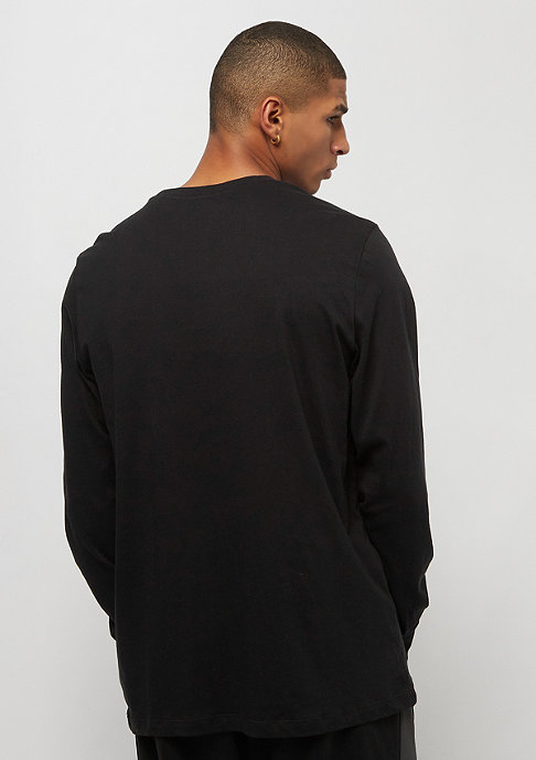 NIKE Club Tee LS black/white