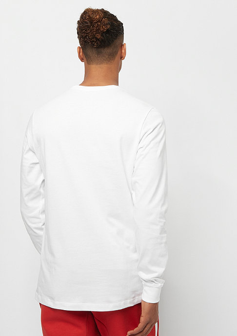NIKE Club Tee LS white/black