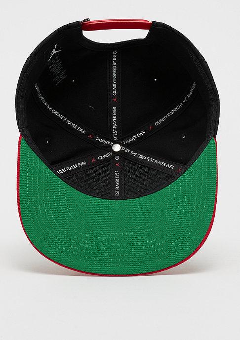 JORDAN Pro Script Cap black/university red/pine green