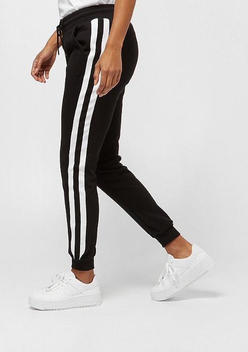 Urban Classics College Contrast Sweatpants black/white/black
