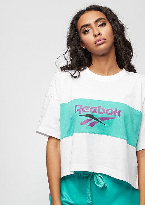 Reebok CL V P Cropped white/timeless teal