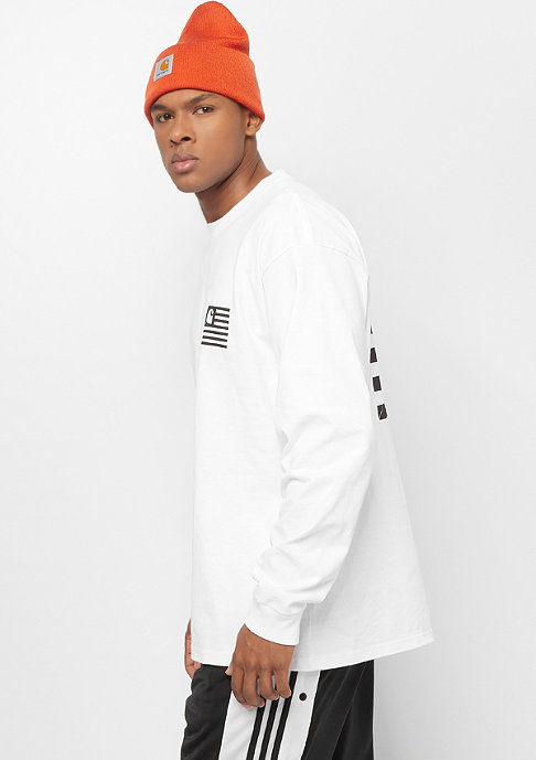 Carhartt WIP L/S State Patch white