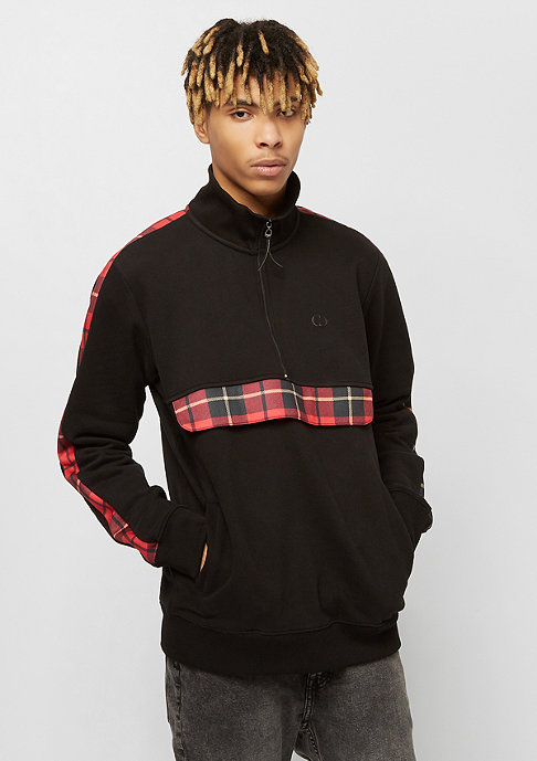 Criminal Damage Check Globe Track Top black/red