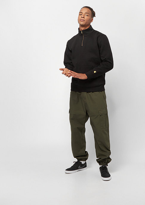 Carhartt WIP Chase Neck Zip black/gold