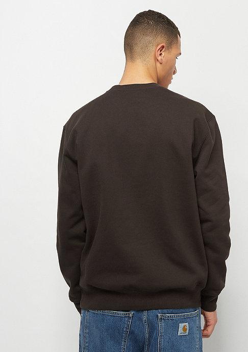 Carhartt WIP Chase Sweatshirt tobacco/white