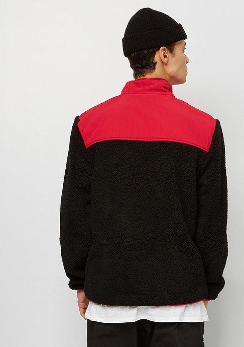 SNIPES Block Fleece Jacket black/red