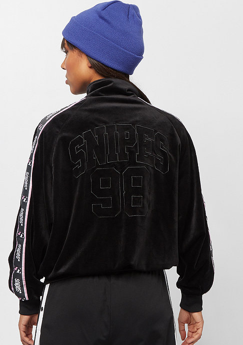 SNIPES Velvet Chest Logo Trackjacket black