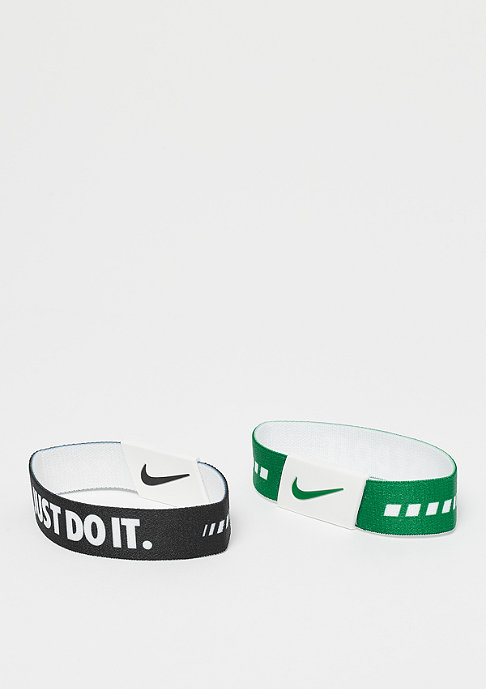 NIKE Baller Bands black/clover/white