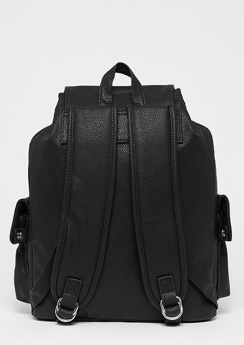 SNIPES Fake Leather Backpack black